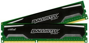 Crucial Ballistix Sport 8GB Kit (4GBx2) DDR3 1600 (PC3-12800) 240-Pin UDIMM Memory BLS2KIT4G3D1609DS1S00/BLS2CP4G3D1609DS1S00 review