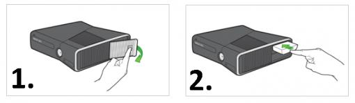 install xbox 360 hard drive