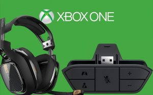 Xbox One stereo adapter with headset