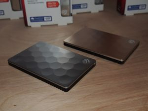 two seagate backup plus ultra slim external hdds