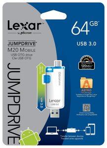 Lexar JumpDrive M20 packaging