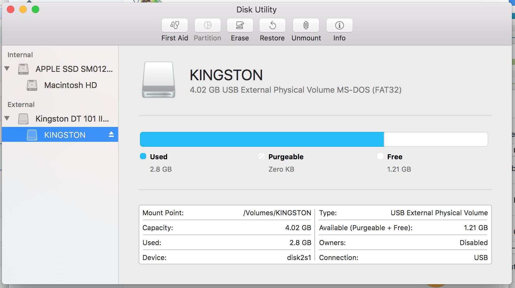 Mac formatting
