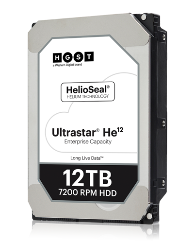 Second largest hard drive in the world - HGST WD Ultrastar He12, price & specs