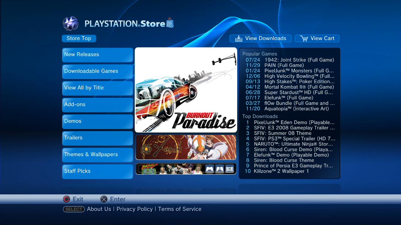 XBox Live Marketplace VS PlayStation Store
