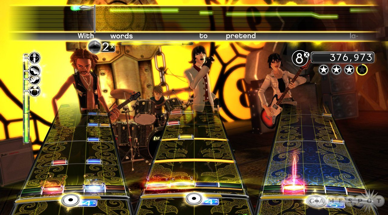 Rockband gameplay