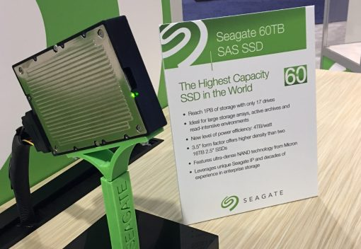 Largest hard drive in the world - Seagate 60 TB 3.5 inch SSD