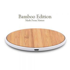 SurgeDisk Wireless Charger Bamboo