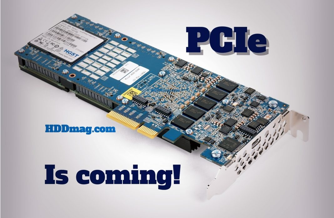 pcie is coming fastest storage devices