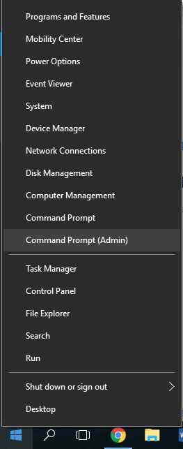 CMD prompt as admin