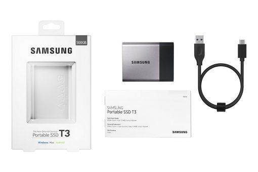 Samsung T3 Portable SSD - 500GB - USB 3.1 External SSD (MU-PT500B/AM)