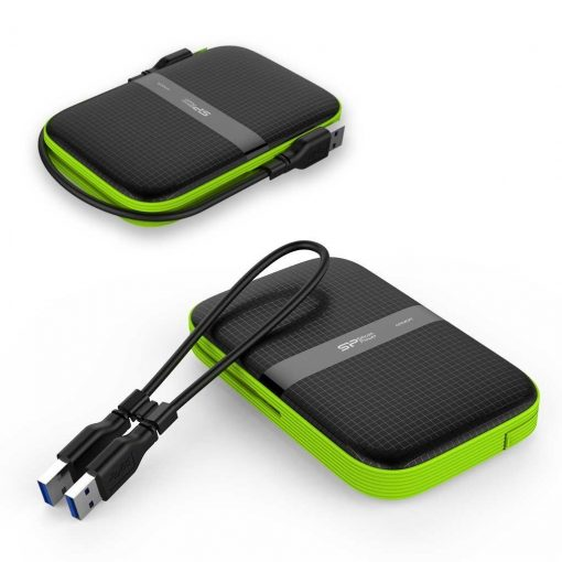 Silicon Power Rugged Armor A60 portable external hard drive review, box contents