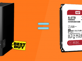 Best buy external WD hard drive, WD red cheap RAID and NAS hack
