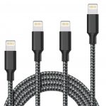 Akaho Lightning cable 4-pack, cheapest durable lightning cable, best lightning cable pack best buy