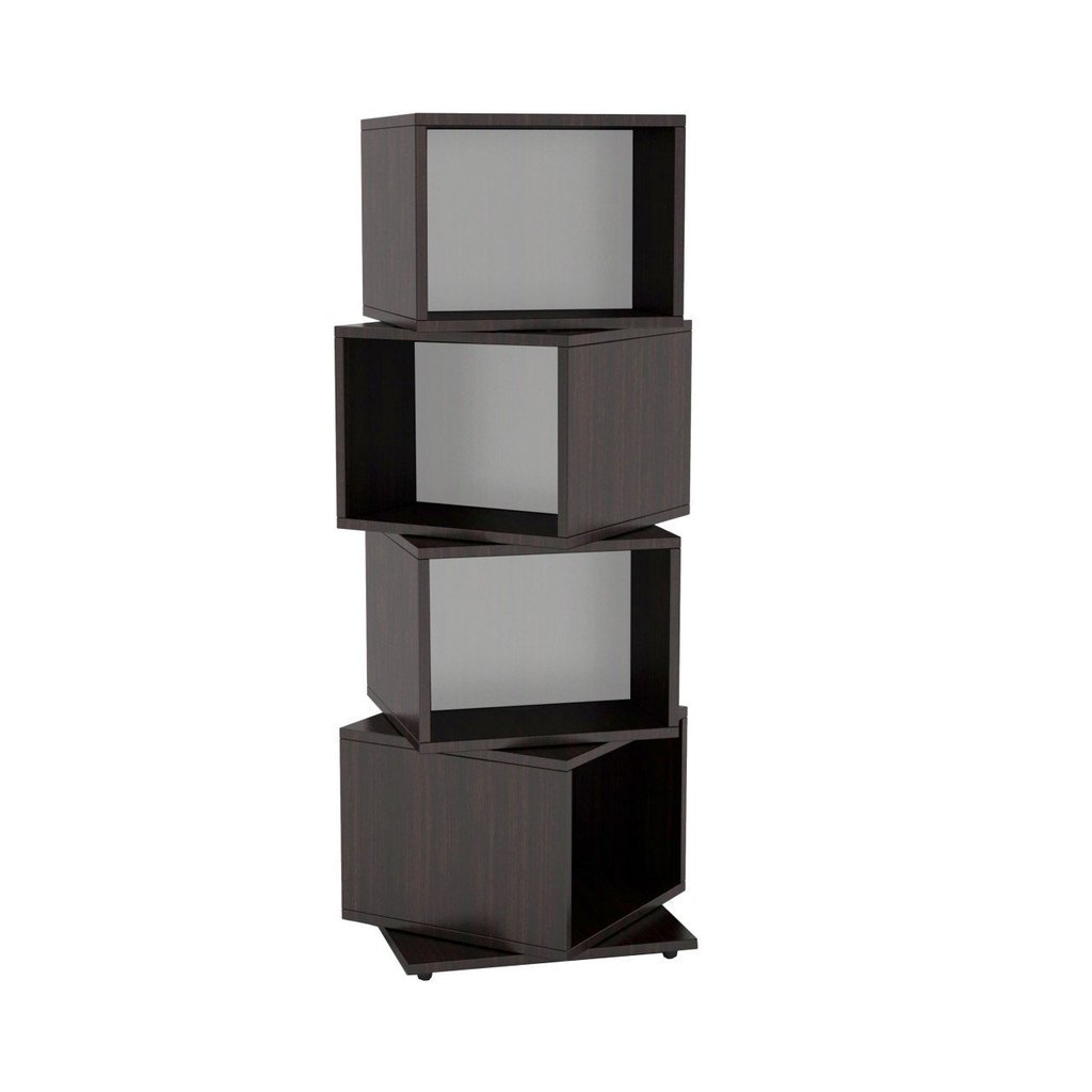 Atlantic 2823-5872 Rotating Cube 4-Tier Espresso Multimedia Storage Tower  sc 1 st  HDDmag.com & Top 15 Video Game Storage Towers [2018]