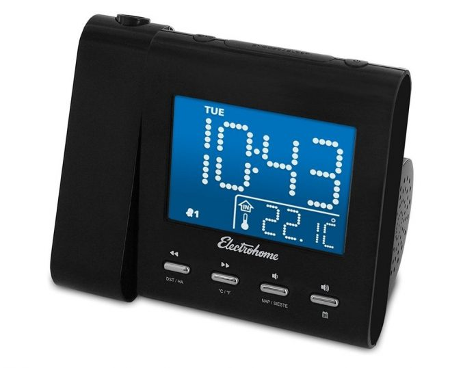 Perfect 3Electrohome EAAC601 Projection Alarm Clock Radio