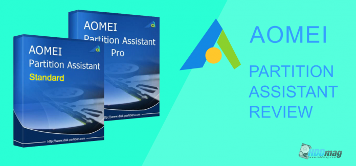 AOMEI Partition Assistant free software and pro edition partitioning and disk management software download and review