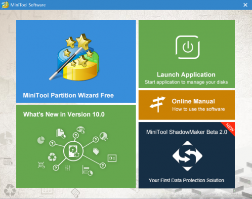MiniTool Partition Wizard 10.2 review, freeware partition tool download, free software for hard drive management, disk management free software