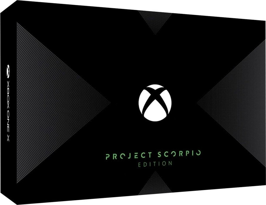 Project Scorpio, Microsoft, unique stippled pattern, 360-degree angle view, Scorpio engine, German website, Xbox Live achievement, read more