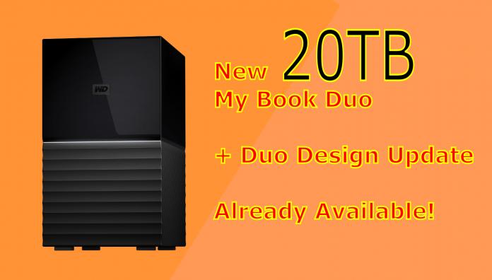 new western digital my book duo model 20tb buy raid storage with usb-c