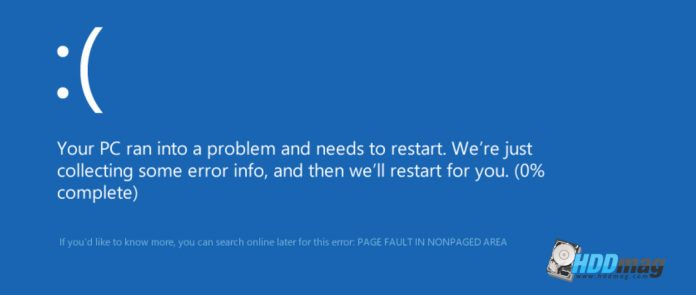 Page Fault in Nonpaged area