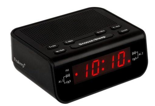 Peakeep Little Digital FM Alarm Clock Radio
