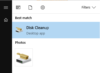 Performing a disk cleanup