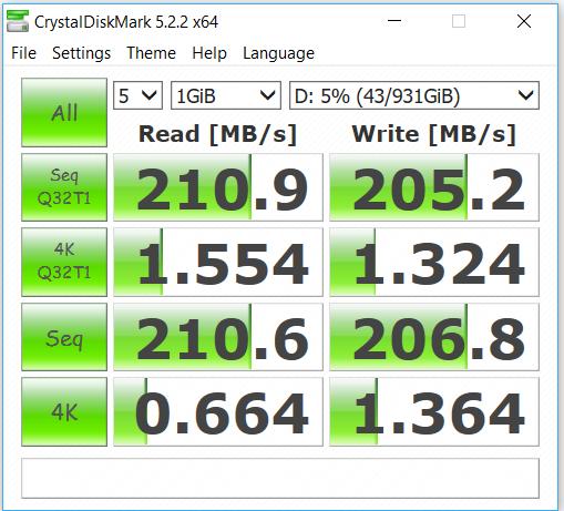 Seagate Barracuda 1TB CrystalDiskMark