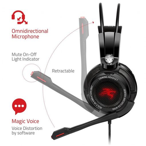 Sentey GS-4730 Virtual 7.1 USB DAC Gaming Headset