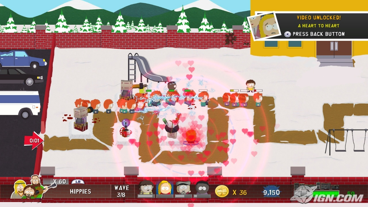 South Park Online Game on Xbox Live Arcade gameplay