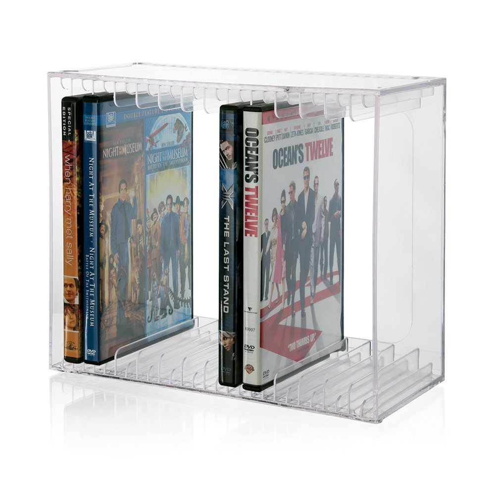 Stackable Clear Plastic DVD Holde