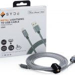 Syde Metal Lightnign cable mfi certified durable charging cable best buy