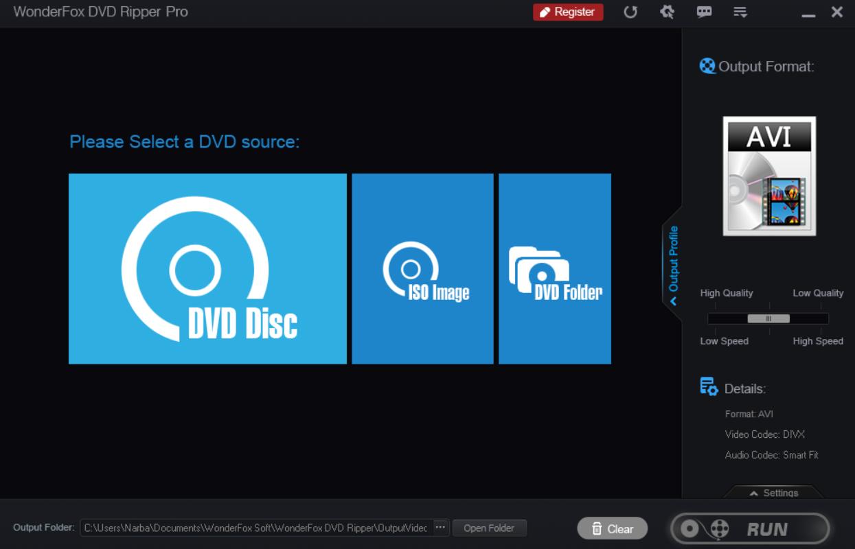 DVD ripper Pro main screen