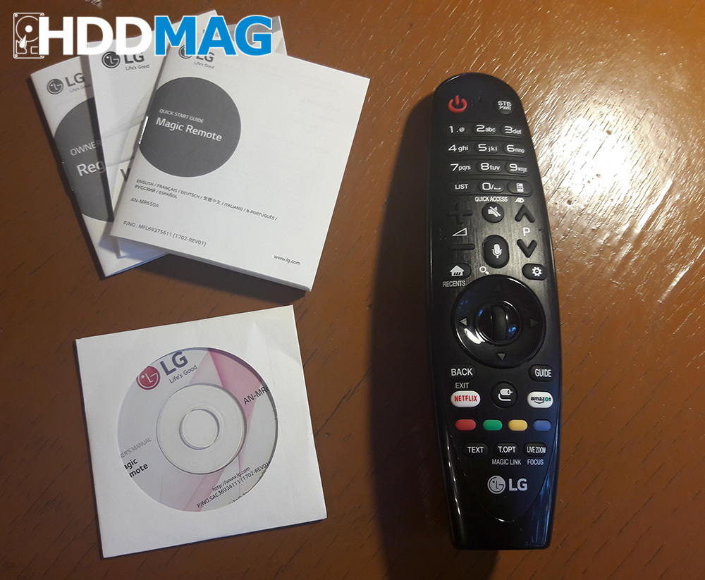 LG magic remote - inside the box