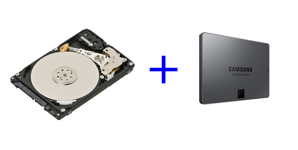 PC drive combo - HDD plus SSD