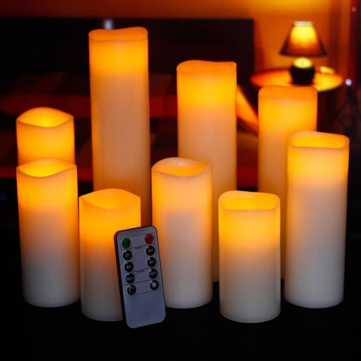 6. Flickering flameless LED candles with remote