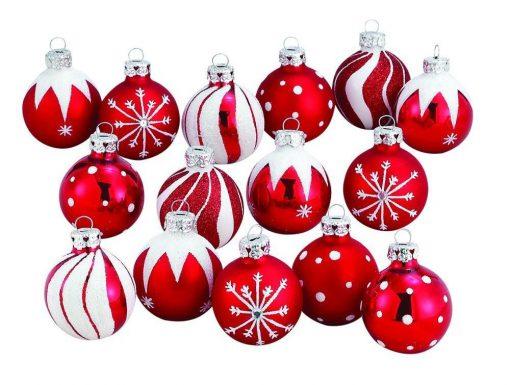 Christmas Tree Glass Ball Decorations