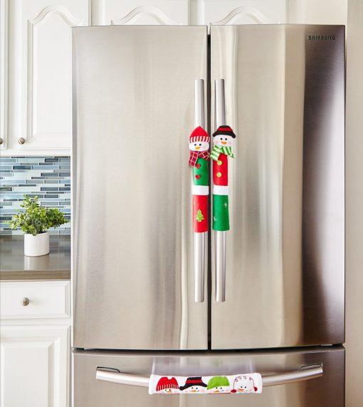 Snowman Kitchen Appliance Handle Covers