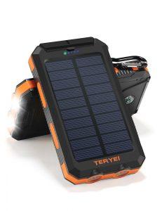 Solar Charger Teryei Solar Power Bank 15000mAh