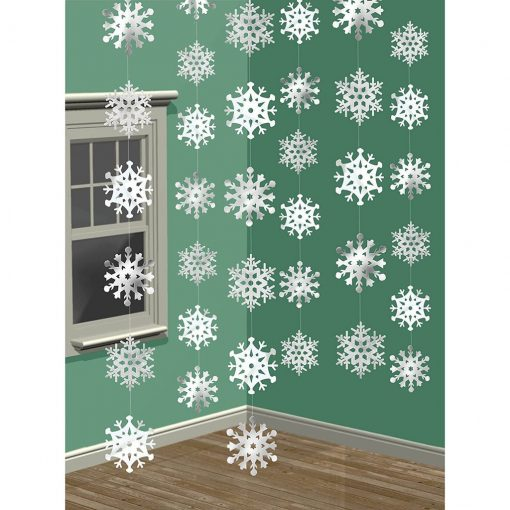 Winter Wonderland Christmas 3-D Snowflake Hanging Party Decoration
