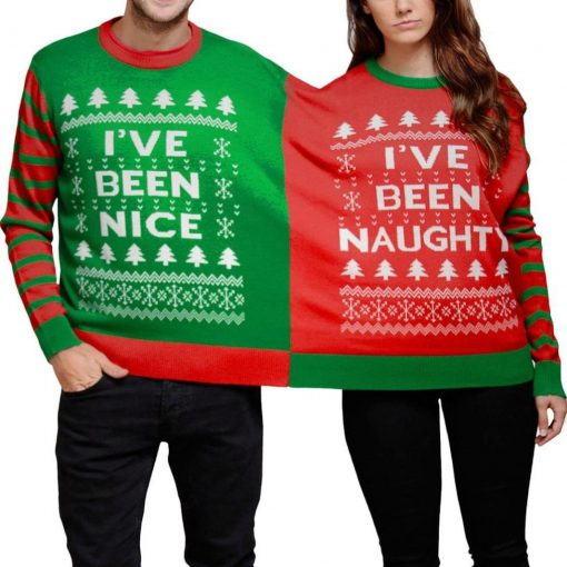 Naughty and Nice Two-Person Sweater