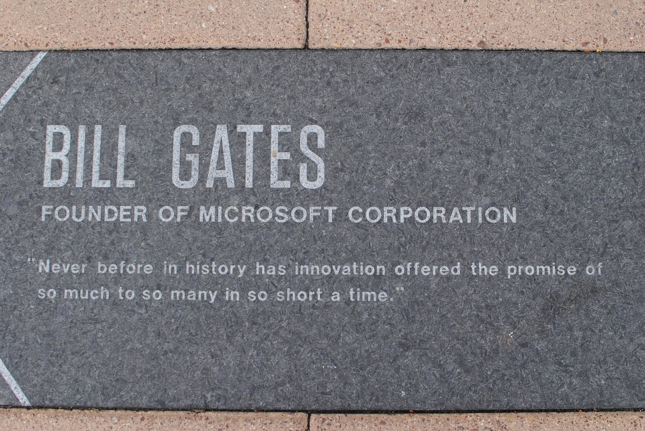 Bill Gates is an example of a person with strong technology background