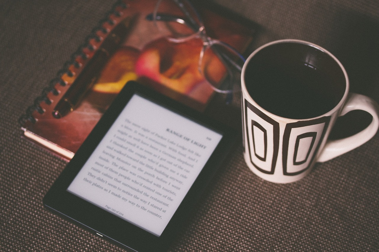 reading e-book using tech gadget is an example of a person with strong technology background