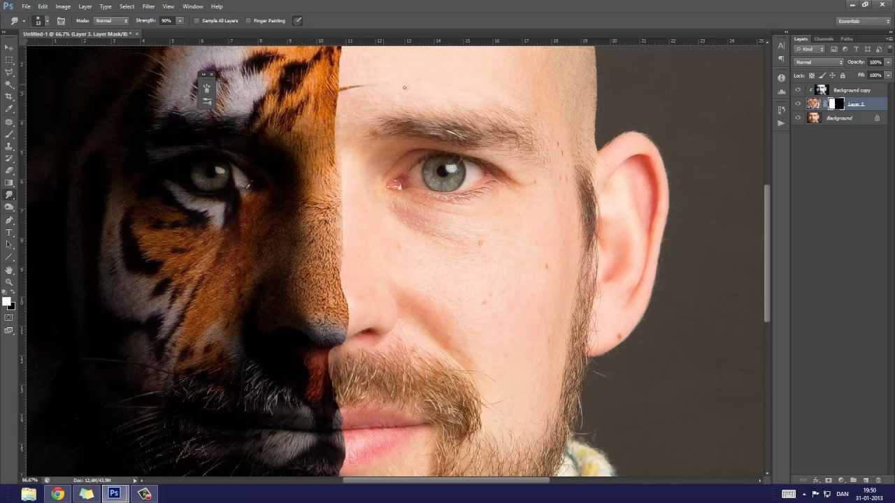 photoshopping human face