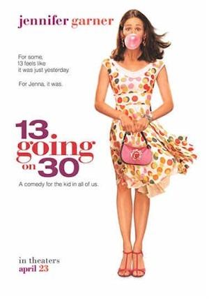13 going on 30 movie poster starring Jennifer Garner