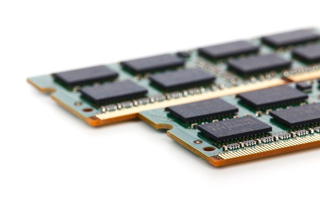 set of laptop memory in whitebackground