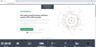 official website of Disconnect VPN