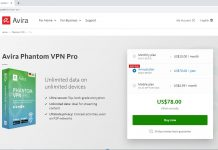 product description of the Avira Phantom VPN