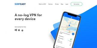 surf easy vpn review - website screenshot