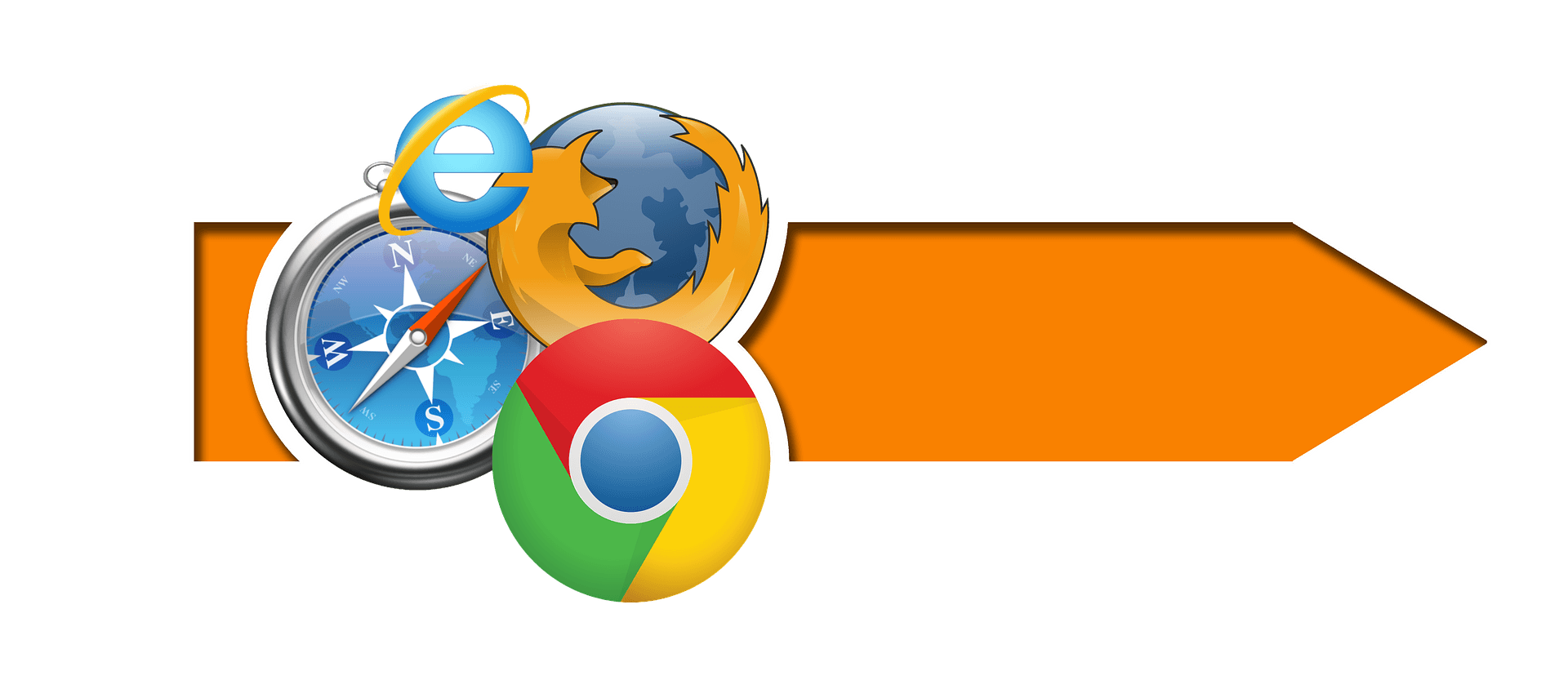 logo of four different browsers