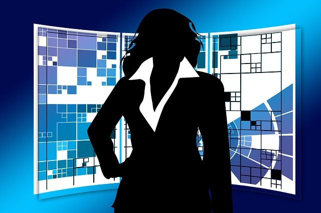 silhouette of an executive businesswoman